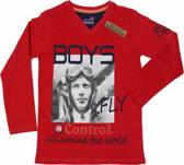 Boys In Control Jongensshirt - Grijs Melange - Maat 92