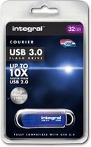 Integral 64GB USB3.0 64GB USB 3.0 (3.1 Gen 1) USB-Type-A-aansluiting Blauw USB flash drive