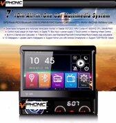 1Din klapscherm navigatie multimedia mirrorlink