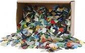 Mozaiek glas kleuren 8-20mm