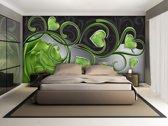 Fotobehang Art | Groen | 208x146cm