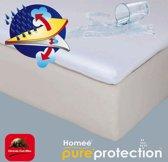 Homéé - Topper Molton flanel hoeslaken waterdicht PU 90x200/30cm 100% geruwd katoen 220g. p/m2