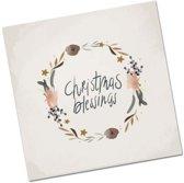 Christelijke Minikaart Kerst - Christmas Blessings - DagelijkseBroodkruimels