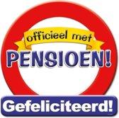 Huldeschild Verkeersbord -pensioen