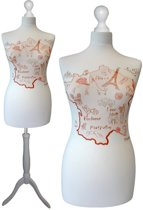 French map paspop met witte sparkling driepoot  40/42