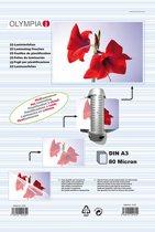 1x25 Olympia Lamineerfolie DIN A3 80 micron