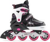 SFR Pulsar Verstelbare Inline Skate Junior Inlineskates - Maat 35-40 - Unisex - zwart/wit/roze Maat 35.5-39.5