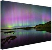 Waanzinnig noorderlicht in IJsland Canvas 120x80 cm - Foto print op Canvas schilderij (Wanddecoratie)