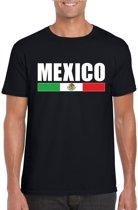 Zwart Mexico supporter t-shirt voor heren - Mexicaanse vlag shirts S