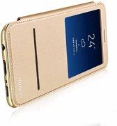 Samsung Galaxy S8 window view folio flip case (slide to answer) hoesje Rose Goud