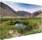 Landschap op weg naar de Himalaya Canvas 80x60 cm - Foto print op Canvas schilderij (Wanddecoratie)