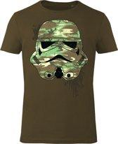 Star-Wars-T-shirt-met-korte-mouw-olijfgroen-maat-XL