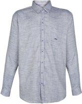 GROTE MAAT : Dario Beltram Overhemd Kilo blauw wit geblokt MAAT 5 XL