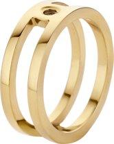 Melano twisted trista ring - goudkleurig - dames - maat 62