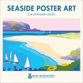 Seaside Poster Art by Becky Bettesworth Square Wall Calendar 2020