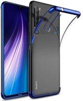 Teleplus Xiaomi Redmi Note 8T Case Luxury Laser Silicone Blue + Nano Screen Protector hoesje