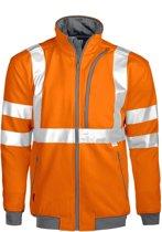 Projob 6103 Sweatshirt Oranje/Grijs maat XS