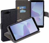 MP case Zwart bookcase style Huawei Y6 2018 wallet case hoesje