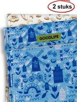 Goodlife Products Herbruikbaar Boterhamzakje - 2 Stuks Mix