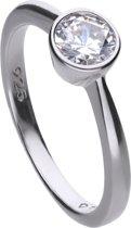 Diamonfire - Zilveren ring met steen Maat 16.5 - Steenmaat 5.65 mm - Kastzetting