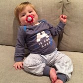 Ajax Baby Pyjama A Is For Ajax Blauw Maat 50/56