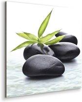 Zen Groen blad  - Schilderij 30 x 30 cm