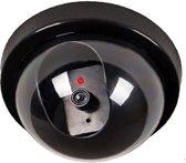 Premium 1x Dummy LED Beveiligingscamera met Bewegingssensor – 12x8cm – Zwart – 1 Stuks | Draadloze Nepcamera Met Rode Led op Batterijen | Knipperende Camera Beveiliging Voor Binnen en Buiten | Buitencamera | CCTV Dome Bewakingscamera