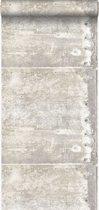 Origin behang grote verweerde roestige metalen platen met klinknagels