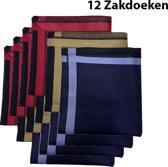 Zakdoeken - Heren - 12 zakdoeken - Sorprese - cadeauset - heren zakdoeken - zakdoek - 13