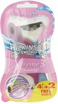 Wilkinson Sword Xtreme 3 Beauty - 6 stuks - Scheermesjes