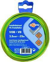 PROFILE installatiedraad VOB (België) VD (Nederland) - 2,5mm² - groen/geel - 25 meter