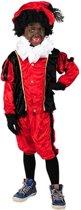 Kostuum Zwarte Piet kind rood zwart-Maat:152