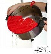 Vergiet pan | Afgietdeksel | Keuken zeef | afgieten van pannen | Zeef | 15 cm
