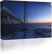 Sound Art - Canvas + Bluetooth Speaker Boat On The Sea (41 x 51cm)