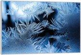 Plexiglas –IJskristallen– 60x40 (Wanddecoratie van Plexiglas)