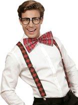 Schotse nerd set voor volwassenen - Verkleedattribuut