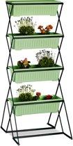 relaxdays - verticale tuin met 4 bloembakken - stabiele kruidentoren plantenrek