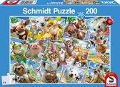 Dieren Selfies, 200 stukjes Puzzel