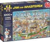 Jan van Haasteren Tall Ship Chaos - Puzzel 1000 Stukjes