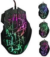 Professionele 7D Gaming Muis | 5500 DPI | Verstelbare DPI | Ergonomische Game muis | LED Game Verlichting | USB bedraad | Cadeau voor man & vrouw | Zwart
