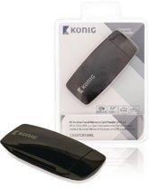 König CSU3TCR100BL Alles-in-1 Cardreader Usb 3.0 Reisuitvoering