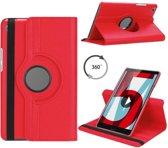 Huawei MediaPad M5 8.4 draaibare hoes Rood