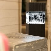 3D Foto Mega met lichtzuil dark *AANBIEDING*