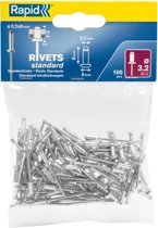 Rapid blindklinknagels aluminium 3,2 x 8 mm 100 stuks