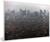 Foto in lijst - Uitzicht over de miljoenstad Lima fotolijst wit 60x40 cm - Poster in lijst (Wanddecoratie woonkamer / slaapkamer)