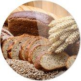 Gesneden brood | Wanddecoratie | Ronde Plexiglas | 100CM x 100CM | Schilderij | Foto op plexiglas