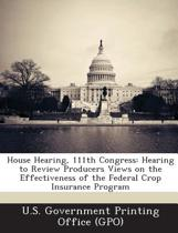 House Hearing, 111th Congress