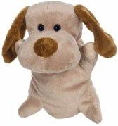 Pluche handpop hond 24 cm