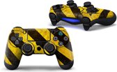 PS4 dualshock Controller PlayStation sticker skin | Geel Zwart