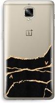 OnePlus 3T Transparant Hoesje (Soft) - Gouden marmer
